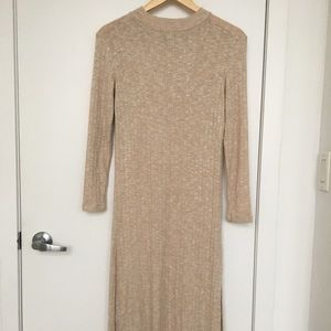 Topshop loosely fitted cozy midi-dress